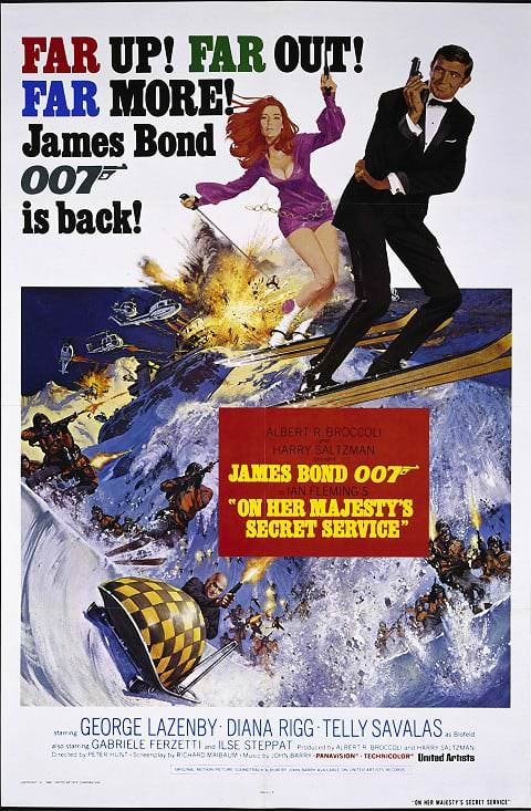 'On Her Majesty's Secret Service' poster (1969)