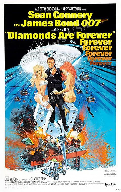 'Diamonds Are Forever' poster (1971)