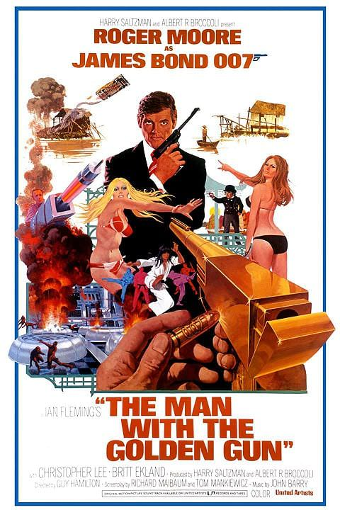 'The Man with the Golden Gun' poster (1974)