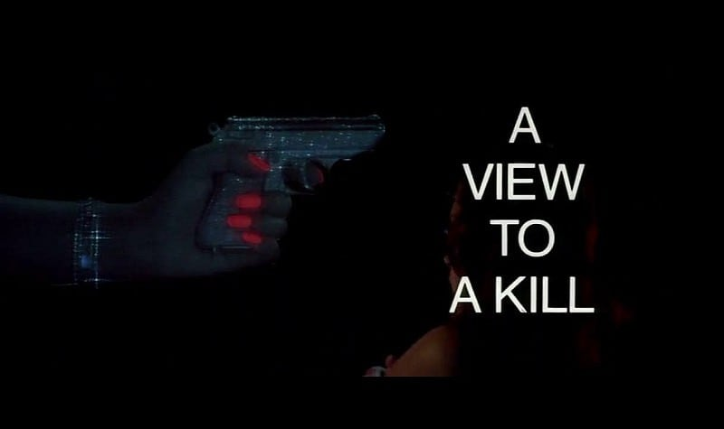 'A View To A Kill' title sequence