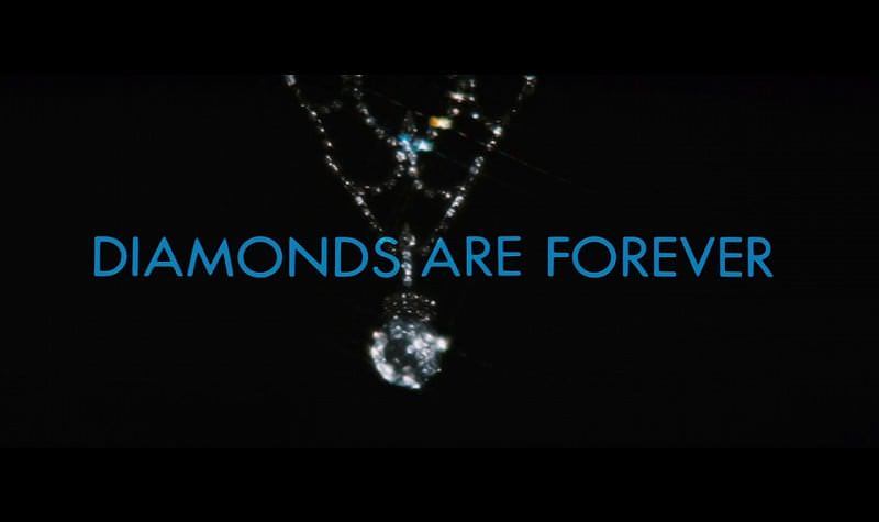'Diamonds Are Forever' title sequence