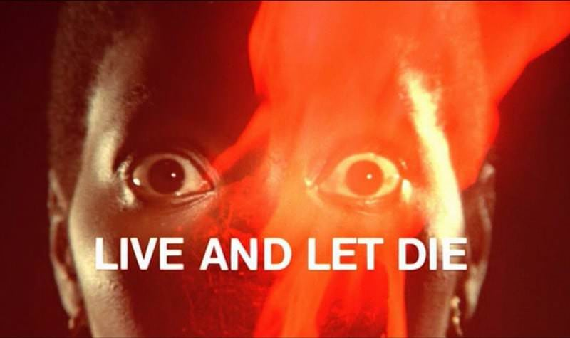 'Live and Let Die' title sequence