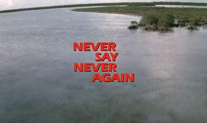 'Never Say Never Again' title sequence