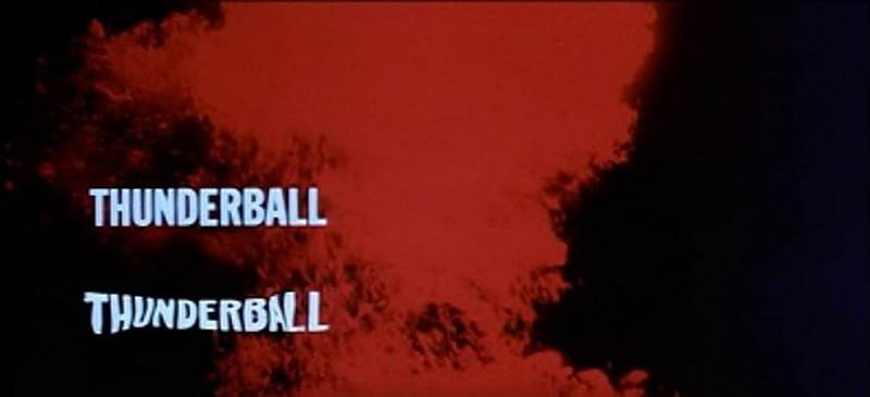 'Thunderball' title sequence